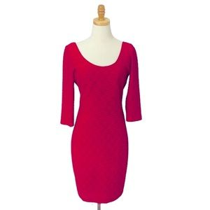 Guess 3/4 Length Sleeve Body Contouring Dress 8